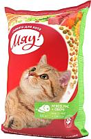 Корм для кошек Мяу! С мясом, рисом и овощами (11кг) -