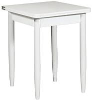 Обеденный стол Рамзес Ломберный ЛДСП 60x60 (белый текстурный/ноги конусные белые) -
