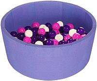 Игровой сухой бассейн Midzumi Baby Beach (100 шаров, сиреневый) -