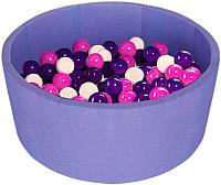 Игровой сухой бассейн Midzumi Baby Beach (200 шаров, сиреневый) -