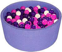 Игровой сухой бассейн Midzumi Baby Beach (300 шаров, сиреневый) -
