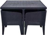 Комплект садовой мебели Keter Columbia Dining Set 5 / 232706 (графитовый) -