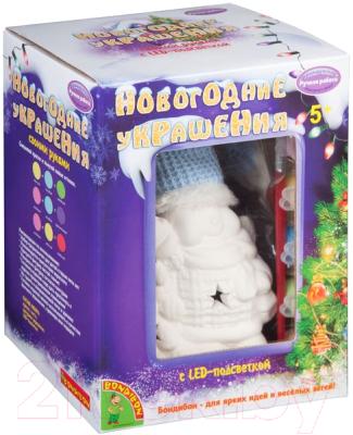 Набор для творчества Bondibon Новогодние украшения сувенир Снеговик / ВВ2145