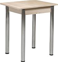Обеденный стол Рамзес Ломберный ЛДСП 60x60 (шимо светлый/хром) -