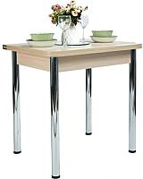 Обеденный стол Рамзес Ломберный ЛДСП 60x80 (шимо светлый/хром) -