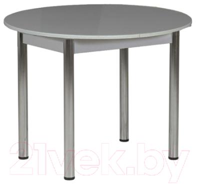 Обеденный стол Рамзес Раздвижной круглый ЛДСП 94-124x94