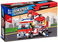 Конструктор Bondibon Пожарная Служба. Пожарная машина / ВВ3658 -