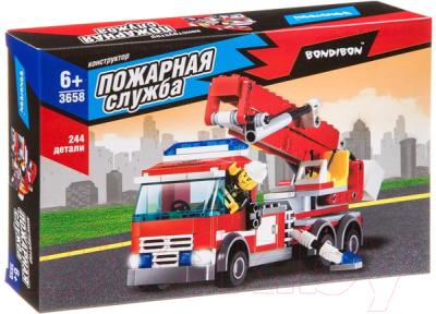 Конструктор Bondibon Пожарная Служба. Пожарная машина / ВВ3658