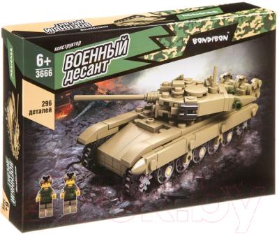 Конструктор Bondibon Военный десант. Танк / ВВ3666