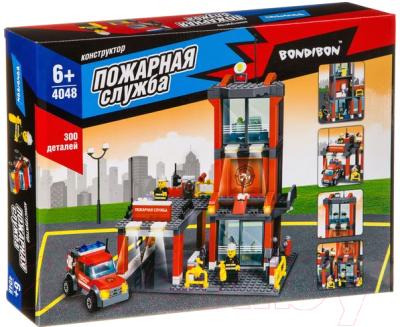 Конструктор Bondibon Пожарная служба. Пожарная станция / ВВ4048