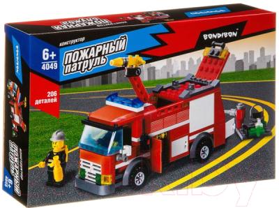 Конструктор Bondibon Пожарная служба. Пожарная машина / ВВ4049