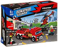 Конструктор Bondibon Пожарная служба. Вертолет, машина / ВВ4050 -