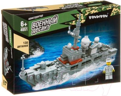 Конструктор Bondibon Военный десант. Корабль / ВВ4051