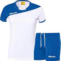 Форма волейбольная Mikasa MT376-018-L (белый/синий) -