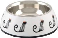 Миска для животных Beeztees Muzy / 650740 (белый) -