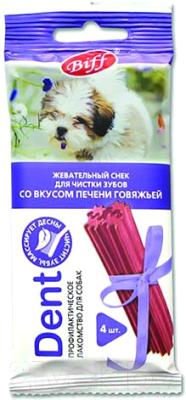 Лакомство для собак, 5 шт. TiTBiT Dent Жевательный снек со вкусом говяжьей печени недорого