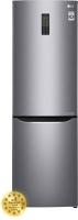 Холодильник с морозильником LG GA-B379SLUL -