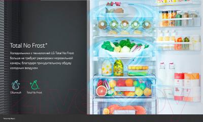 Холодильник с морозильником LG GA-B379SQUL