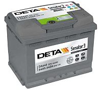 Автомобильный аккумулятор Deta Power DA641 (64 А/ч) -