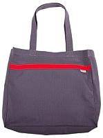 Сумка-шоппер Berossi Assol 17-706-00155 (серый/красный) -