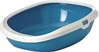Туалет-лоток Savic Gizmo Medium / 20150WTB (белый/голубой) -