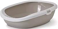 Туалет-лоток Savic Gizmo Medium / 20150WMC (белый/мокко) -