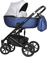 Детская универсальная коляска Riko Basic Ozon Shine 3 в 1 (04/синий) -