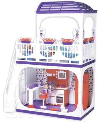 Кукольный домик Огонек Конфетти / С-1334 (без мебели)