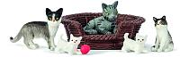 Комплект аксессуаров для кукольного домика Lundby Кошачья семья / LB-60807300 -