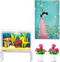 Комплект аксессуаров для кукольного домика Lundby Аквариум и декор / LB-60509200 -