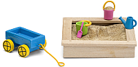 Комплект аксессуаров для кукольного домика Lundby Песочница с игрушками / LB-60509600 -