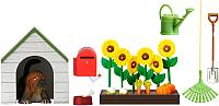 Комплект аксессуаров для кукольного домика Lundby Садовый набор с питомцем / LB-60509000 -