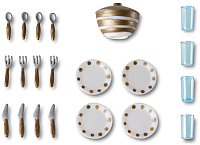Комплект аксессуаров для кукольного домика Lundby Столовая посуда / LB-60509400 -