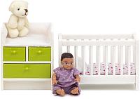 Комплект аксессуаров для кукольного домика Lundby Кровать с пеленальным комодом / LB-60209900 -