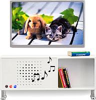 Комплект аксессуаров для кукольного домика Lundby Музыкальный центр и телевизор / LB-60208200 (белый) -
