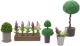 Комплект аксессуаров для кукольного домика Lundby Цветы в горшках / LB-60905500 -