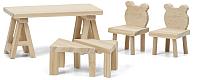 Комплект аксессуаров для кукольного домика Lundby Стол и стулья / LB-60906400 -