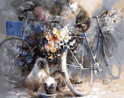 Картина по номерам Picasso Велосипеды и коты (PC4050615)