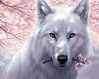 Картина по номерам Picasso Белый волк (PC4050625) -