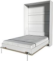 Шкаф-кровать Интерлиния Innova V140 (бетон/белый) -