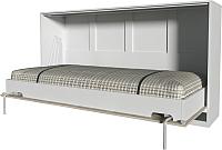 Шкаф-кровать Интерлиния Innova H90 (бетон/белый) -