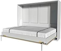 Шкаф-кровать Интерлиния Innova H140 (бетон/белый) -