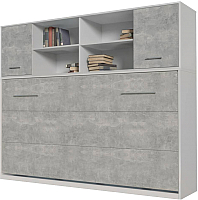 Комплект мебели для спальни Интерлиния Innova H90 (бетон/белый) -