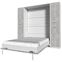 Комплект мебели для спальни Интерлиния Innova V140-2 (бетон/белый) -