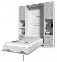 Комплект мебели для спальни Интерлиния Innova V90-1 (бетон/белый) -