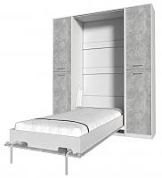 Комплект мебели для спальни Интерлиния Innova V90-2 (бетон/белый) -