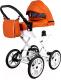 Детская универсальная коляска Ray Corsa Ecco Classic 2 в 1 (24/оранжевый/белый/кожа) -