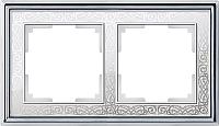 Рамка для выключателя Werkel Palacio WL77-Frame-02 / a041163 (хром/белый) -