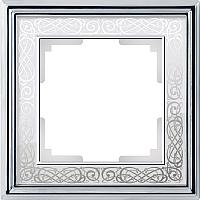 Рамка для выключателя Werkel Palacio WL77-Frame-01 / a041159 (хром/белый) -