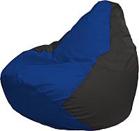 Бескаркасное кресло Flagman Груша Мега Super Г5.1-115 (синий/чёрный) -